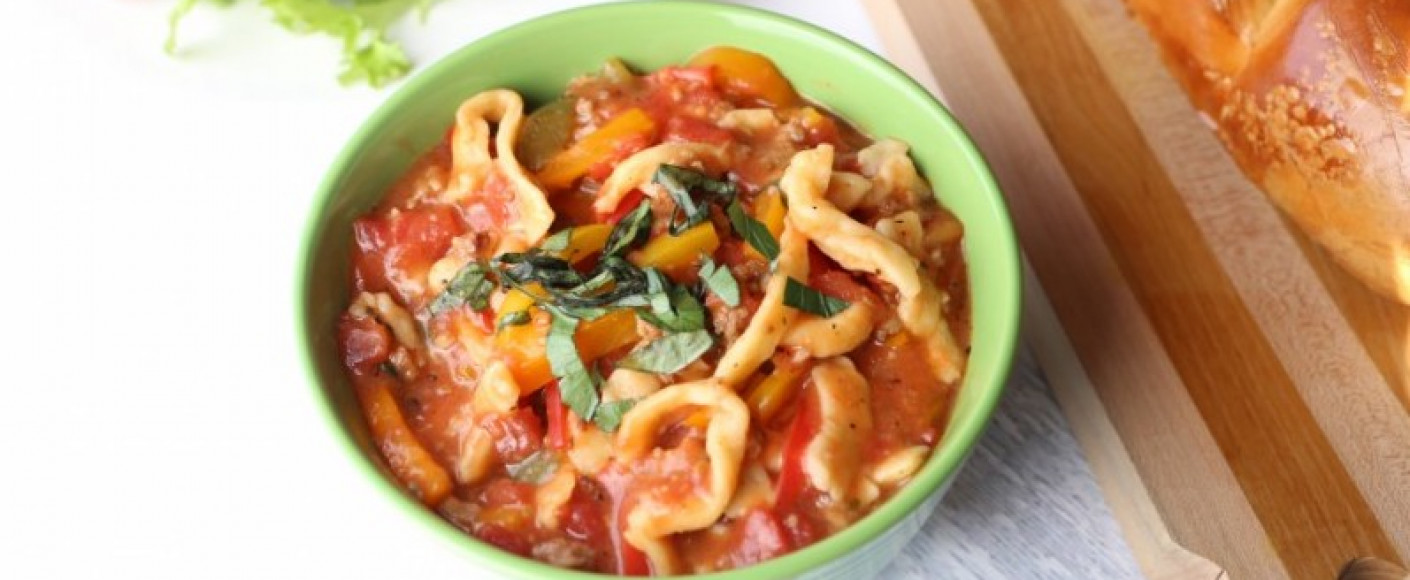 Drunken Italian Noodle Pot Recipe Header