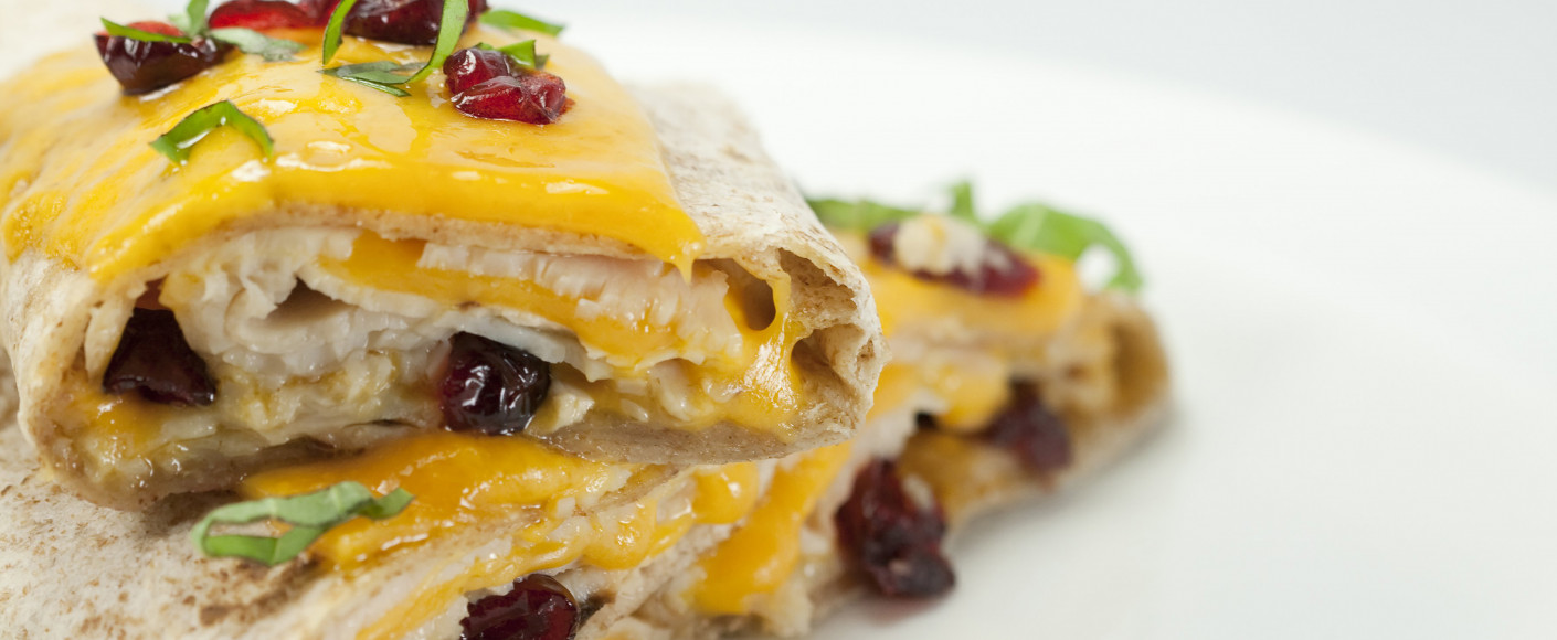 Cranberry turkey wrap recipe