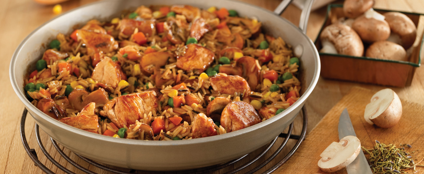 Recipe One Skillet Pork with Wild Rice