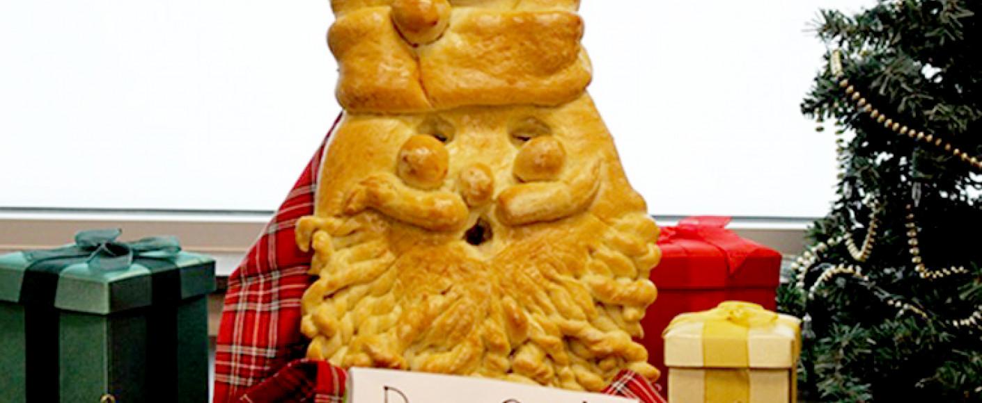 wheat recipe smiling santa bread