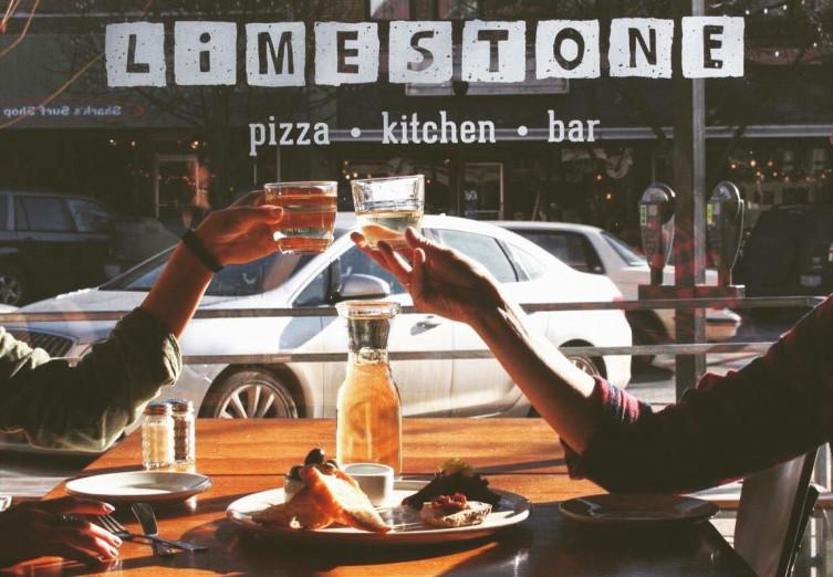 Limestone pizza sign