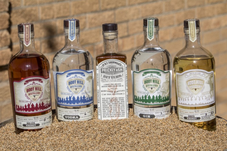 Boot Hill Distillery Spirits
