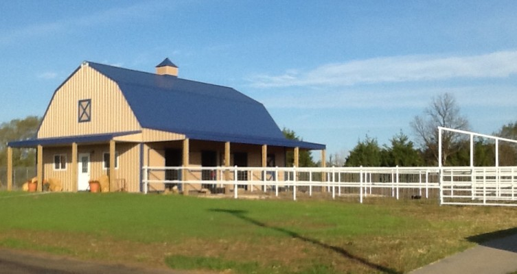 Bluestem Elementary School barn