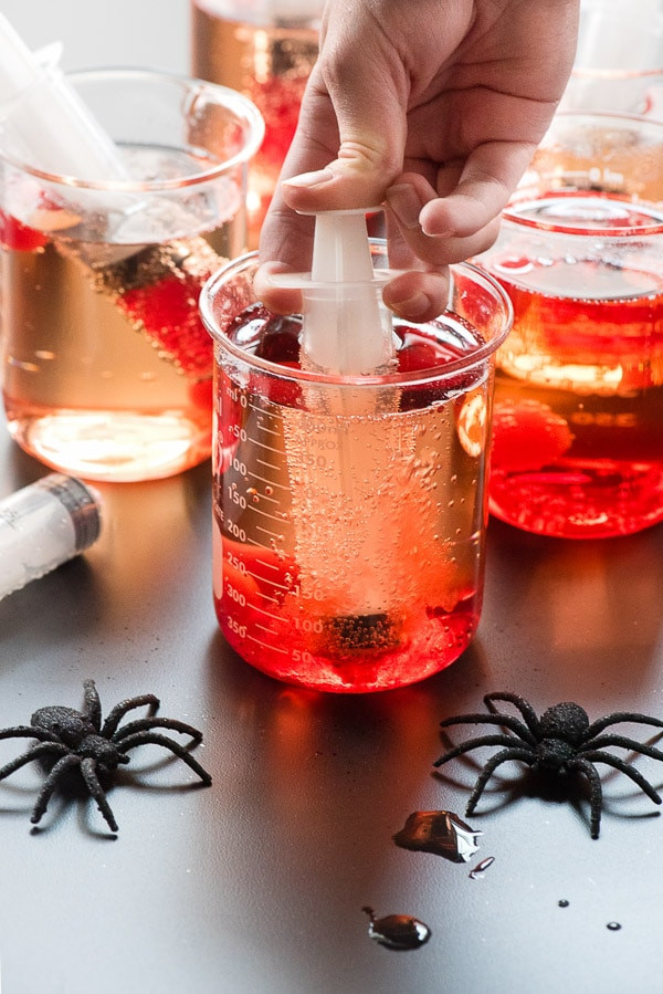 Creepy Shirley Temple, recipe and photo by BoulderLocavore.