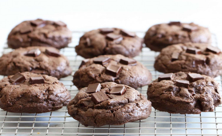 Double Chocolate Chickpea Flour Cookies 21st Century Bean