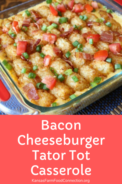 This bacon cheeseburger hot dish is sure to be a hit with the whole family.
