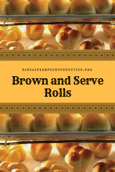 Delicious and easy brown and serve wheat rolls