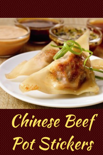 These Chinese beef pot stickers with dipping sauces are just like your favorite resturants.