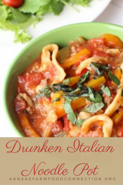 Drunken Italian Noodle Pot Dutch Oven