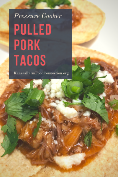 Pin this pressure cooker pulled pork taco recipe