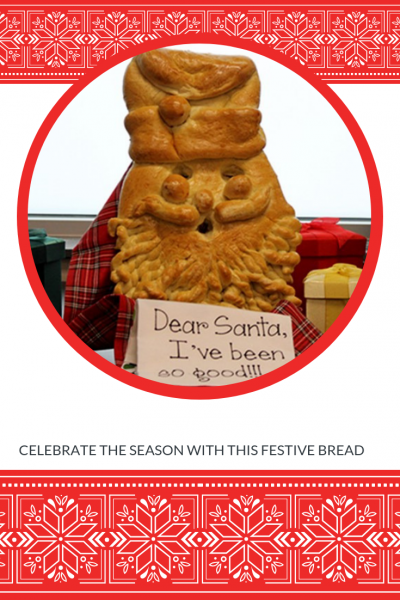Festive Christmas Bread Recipe - Santa