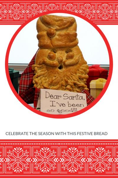 Festive Christmas Bread Recipe - Santa