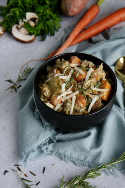 Best Creamy Autumn Wild Rice Soup Recipe - Pin This