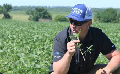 Agronomist Jeremy Olson