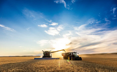 Kansas sunrise on the farm - Laura Haffner