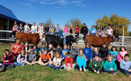 Bluestem students love farm chores