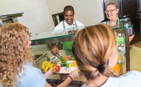 School lunch cafeteria - Farm to Plate program