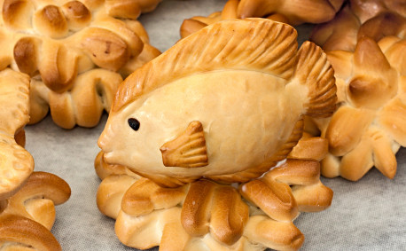 Fish made of bread dough