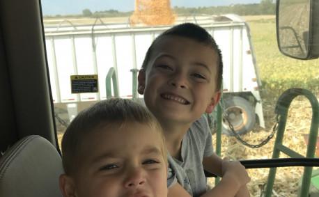 The Heiniger Kids on the Farm