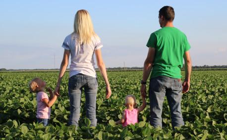 Kohl Family Kansas Farmers in field