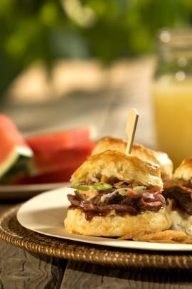 BBQ Beef Biscuit Sliders Recipe