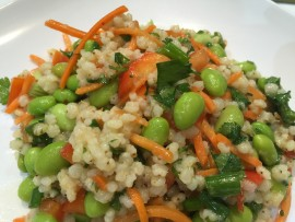 pearled sorghum salad with veggies