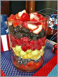 Recipe Rainbow Fruit Bowl with Lemon Honey Dressing