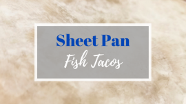 sheet pan fish tacos