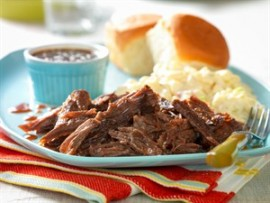 Recipe Slow-Cooked Whiskey-Molasses Shredded Beef